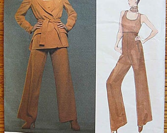 Montana Misses' Jacket, Top and Wide Legged Pants Vogue 1326 Sewing Pattern UNCUT Sizes 8, 10, 12