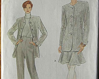 Misses' Jacket, Skirt, Pants, Vogue 9073 Sewing Pattern UNCUT Sizes 6, 8, 10