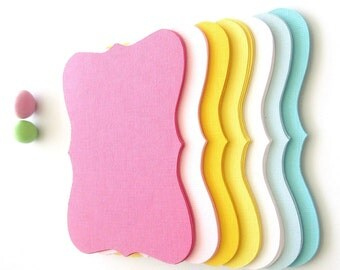 21 Bracket cards (4.5 x 3.5 inches) in 7 pastel and bright color Textured Cardstock  A193