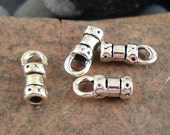 Sterling Silver Cord End, Crimp End Cap, 10mm x 4.02mm, Fits 2mm Cord - 4 Pieces