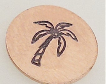 Palm Tree Metal Design Stamp-Measures approx 6 mm-Metal Design Stamp-Metal Stamping Supplies for Personalized Jewelry