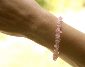 Fertility, Pregnancy, Surrogate and Adoption Bracelet - TRANQUILITY - Rose Quartz, Butterfly charm, Hope charm