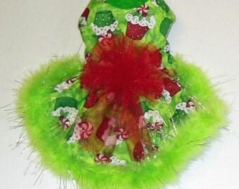 Christmas Cupcake Dress. Chihuahua, Yorkie, Toy Poodle.