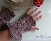 Violet organic Cotton Fingerles Gloves Miss Marple