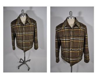 vintage wool jacket penneys TOWNCRAFT coat jacket hunting plaid shadow