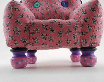 Pink and Black  Pincushion Chair
