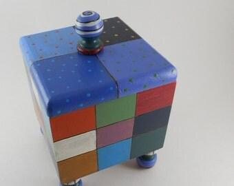 Geometric Squares Box