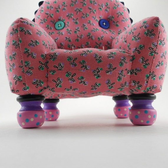 Pink and Black  Pincushion Chair