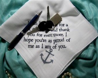 Family/Friends are Special on your Special Day - Lace, Embroidered Gift hankie, Handkerchief is unique and custom made for you