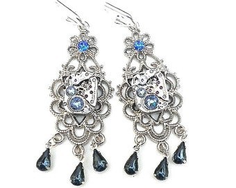 HUGE SALE  Steampunk Chandelier Earrings