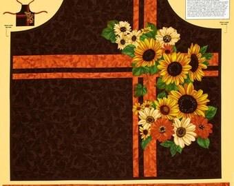 A Gorgeous Harvest Abundance Fall Holiday Apron Fabric Panel Free US Shipping