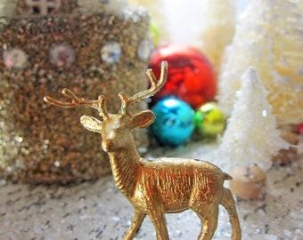 Peace on Earth Putz Glitter House Whimsical Handmade Christmas Decoration Tableau