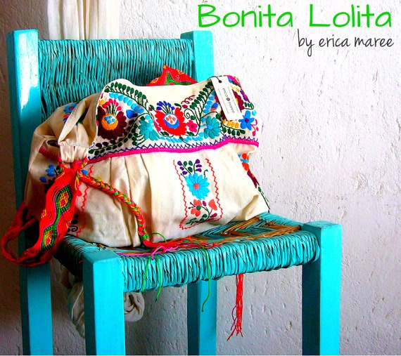 SALE Bohemian Embroidered Handbag Bonita Lolita Off White