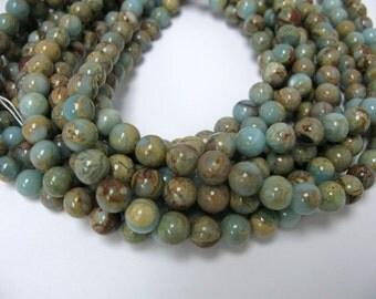 """8mm 16""""long African opal beads"""