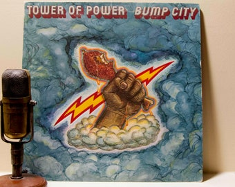 "Tower of Power, Vintage Vinyl 1970s Soul Funk LP Record, Tower of Power - ""Bump City""(1973 WB Records)"