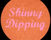 Mineral Makeup...SKINNY DIPPING...Sweet Peach w/Pink Sheen & Gold Sparkles. 5g. Unique Neutral by BRAZEN. Loose Mineral Eye Shadow. Vegan.