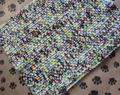 Crocheted Pet Blanket - Multicolor