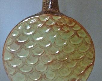 Textured drum vase