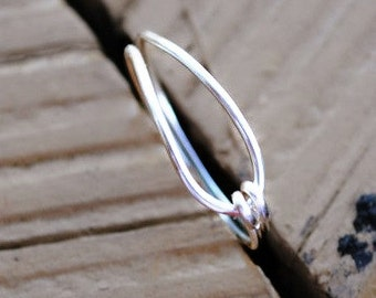 Wire Wrapped Ring Oh So Simple Non Tarnish Silver Plated Wire