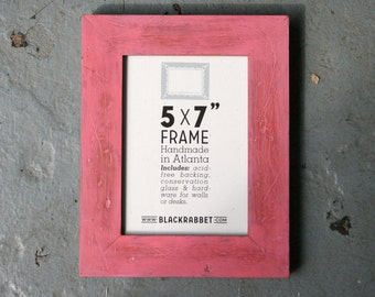 Distressed Rustic Pink Picture Frame (5 x 7 in)