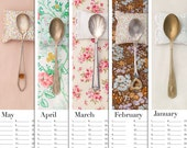 SALE Romantic 2016 Forever Desk Wall Calendar The Art of Spooning photography Holiday / Wedding Unique Gift by Petek Design