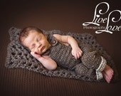 Download PDF crochet pattern s003 - Newborn overall