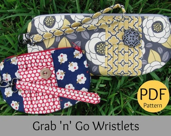 PATTERN for Grab and Go Wristlets (2 Sizes - Clutch & Coin Purse)