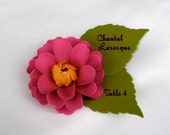 Wedding - ESCORT CARDS - The Zinnia Paper Flowers - Assorted Color - set of 100 - Made To Order
