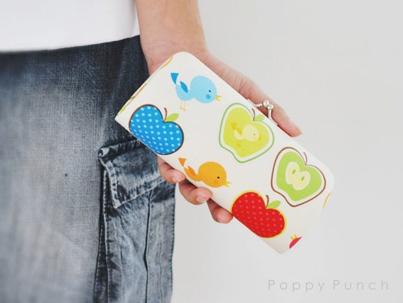 Morning Call in Butter -- Small clutch purse