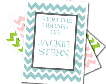Bold Chevron Bookplates