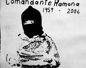 Comandante Ramona Activist Feminist Riot Grrrl Punk DIY Patch Screen Printed