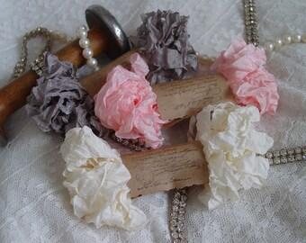 Shabby Wrinkled OLD BALLET ribbon bundle, 15 yards