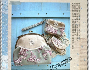 Tutorial Book  (Gift Crafts Happiness) for purse making with Patterns