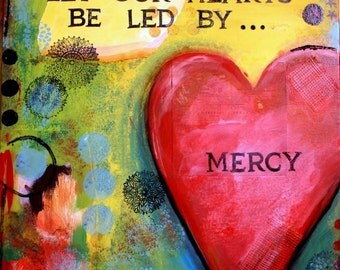 Mercy- SALE Mixed Media painting - giclee Print