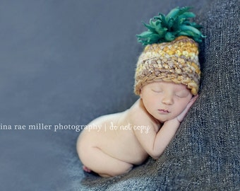 Tropical Pineapple Newborn Hat Gender Neutral LIMITED EDITION