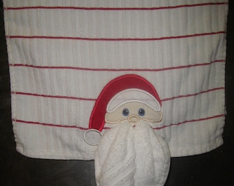Santa Appliqued Kitchen Towel