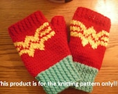 Knitting Pattern: Wonder Woman Fingerless Gloves