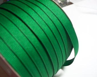 Emerald Green Grosgrain Ribbon-5 yards of 3/8 Inch-LOWEST Price