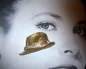 RESERVED BSK Signed My Fair Lady Professor Higgins Fedora Brooch