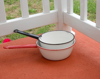 Retro Vintage Enamel Pots Home Decor Restaurant