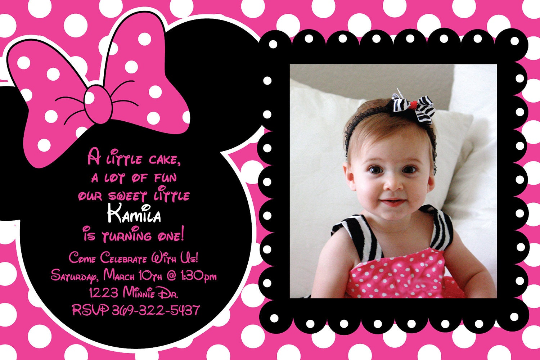 Custom Pink and Black Polka Dot Minnie by HeathersCreations11