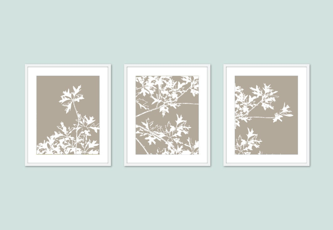 Neutral Wall Art autumn tree art prints modern nature wall art set of 3