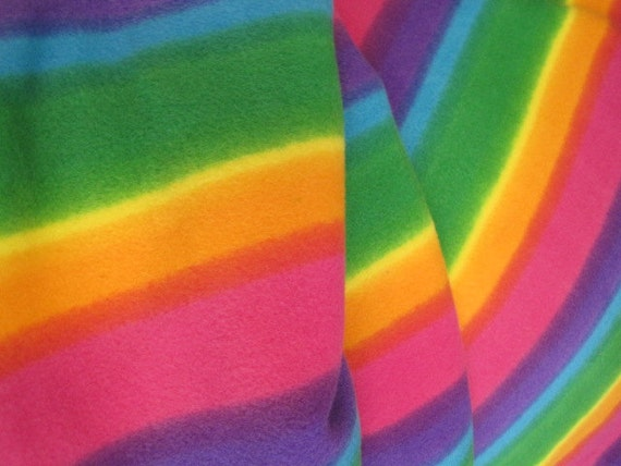 Fleece Blanket of Rainbows with Orange