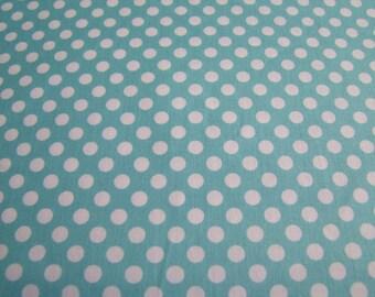 Aqua Small Cotton Dots Riley Blake Designs 1 Yard