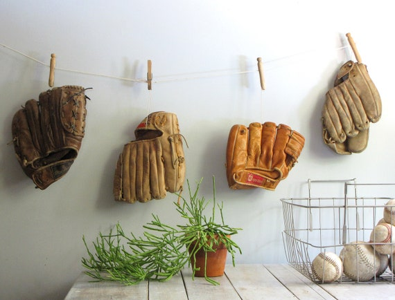 vintage baseball glove collection