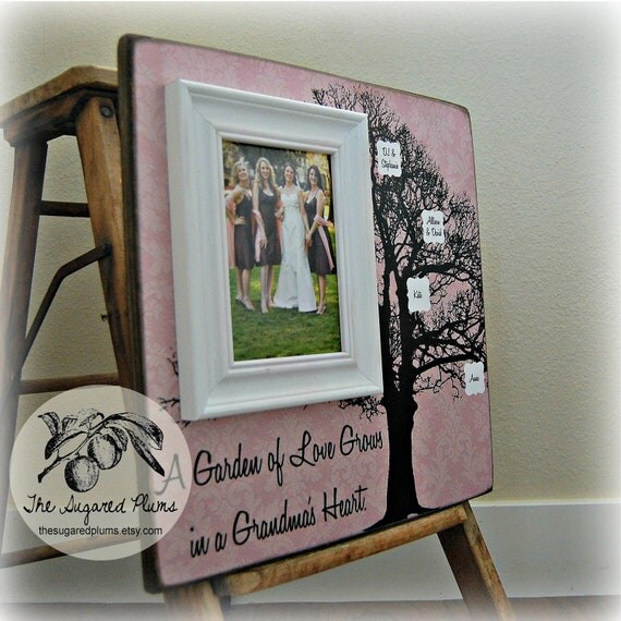 Custom Grandma Picture Frame, Mother, Mom, grandmother, grandchild, grandma, Nana, Mimi 16x16 A Garden Grows