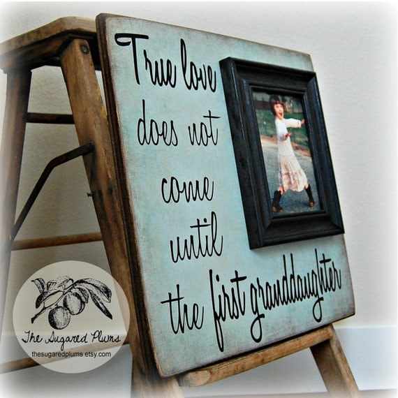 Granddaughter Gift Picture Frame First By Thesugaredplums