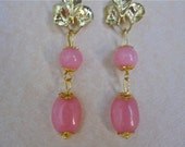 Handcrafted Pink Morganite Earrings (E464)