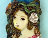 Lampwork Mermaid Focal Bead- Loreli