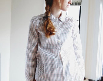 Tattersall Pullover Blouse